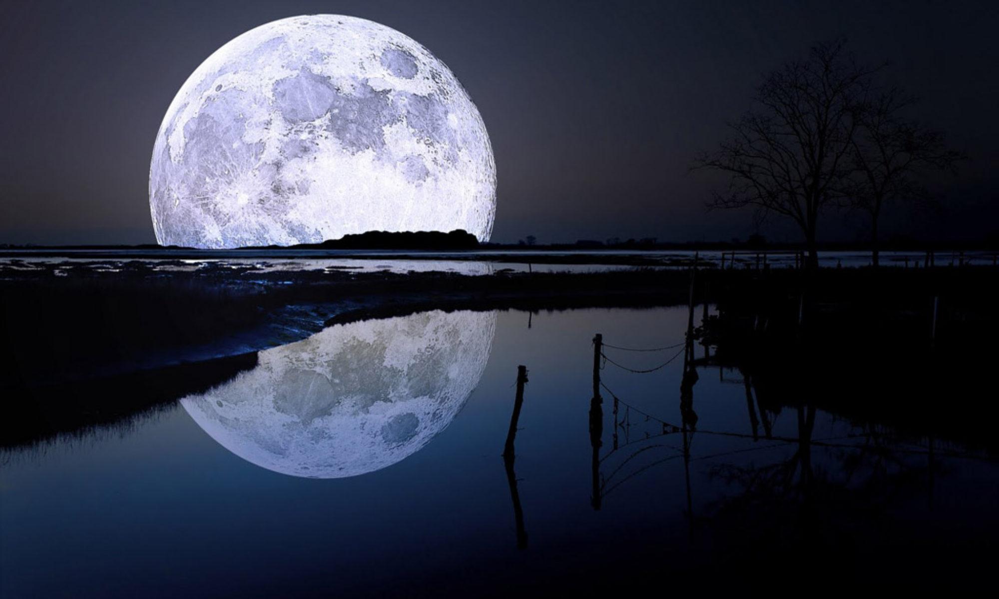 La lune à minuit